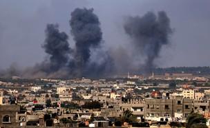 """תקיפות צה""""ל בעזה - מבצע שומר החומות (צילום: SAID KHATIB, AFP)"""