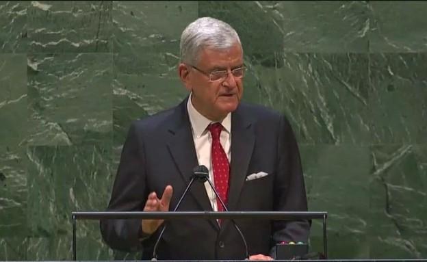 """נשיא העצרת הכללית של האו""""ם וולקן בוזקיר"""