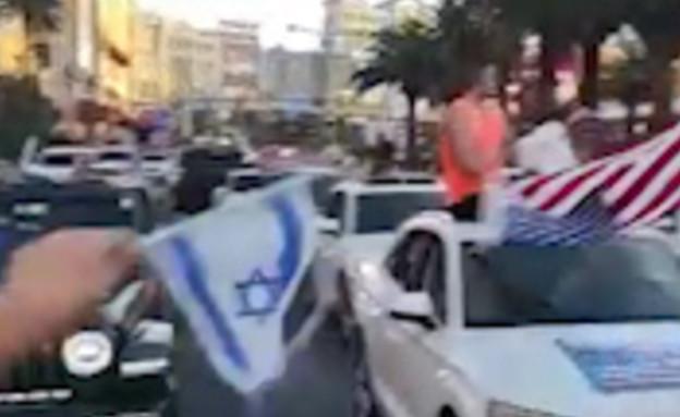 הפגנת תמיכה בישראל בלאס וגאס (צילום: תיעוד מתוך הרשתות החברתיות לפי סעיף 27א׳, מתוך הרשתות החברתיות לפי סעיף 27א׳ לחוק זכויות יוצרים)