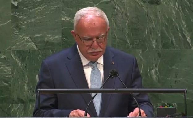 שר החוץ הפלסטיני ריאד אל-מאליכי