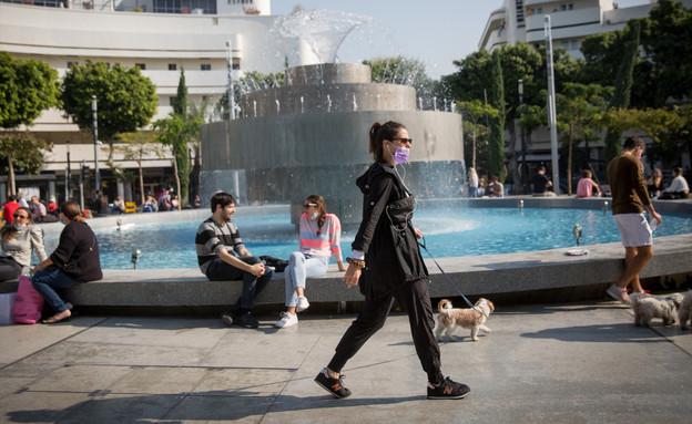 תל אביב קורונה ישראל (צילום: מרים אלסטר, פלאש 90)