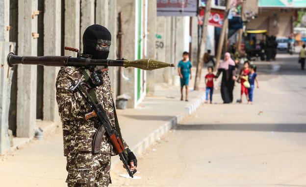 עזה, רצועת עזה, חמאס, ג'יהאד איסלאמי, מחבל (צילום: פלאש 90)