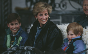 הנסיך הארי, הנסיכה דיאנה, הנסיך וויליאם (צילום: Jayne Fincher/Princess Diana Archive/Getty Images)