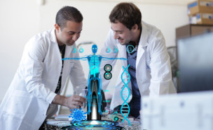סטודנטים לתואר בטכנולוגיות דיגיטליות ברפואה (צילום: עופר אמיר )