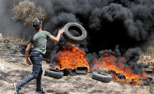עימותים בשכם (צילום: reuters)