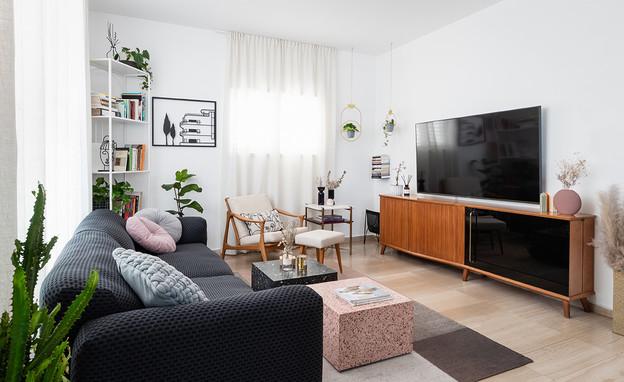 דירה בתל אביב, עיצוב מירב רינגל - 2 (צילום: טלי קנדל)