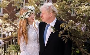בוריס ג'ונסון ואשתו קארי סימונדס (צילום: sky news)