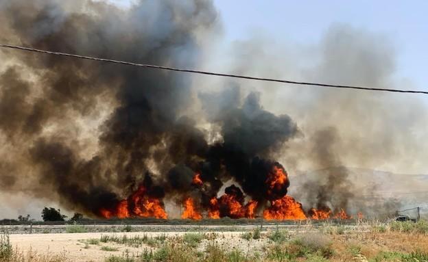 שריפה בכפר רופין