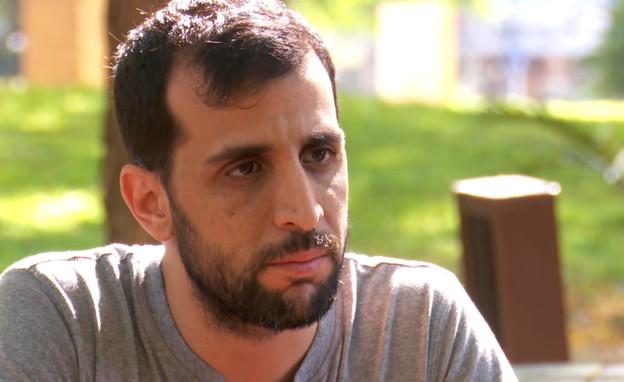 דודו של איתן בירן בן ה-5 שניצל מאסון הרכבל (צילום: חדשות 12)