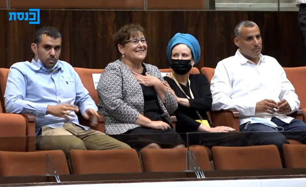 מרים פרץ במליאת הכנסת ביום הבחירות לנשיאות (צילום: ערוץ הכנסת)