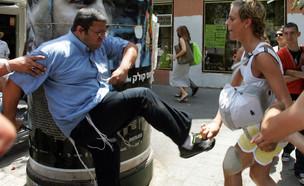 איתמר בן גביר, מצעד הגאווה בתל אביב, 2008 (צילום: JACK GUEZ/AFP, GettyImages)