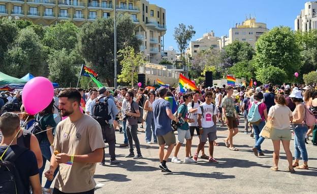 מצעד הגאווה בירושלים (צילום: חוסין אל אוברה)