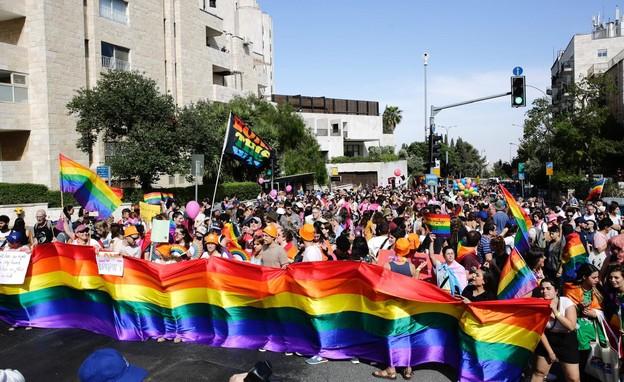 מצעד הגאווה בירושלים (צילום: שלו שלום, TPS)