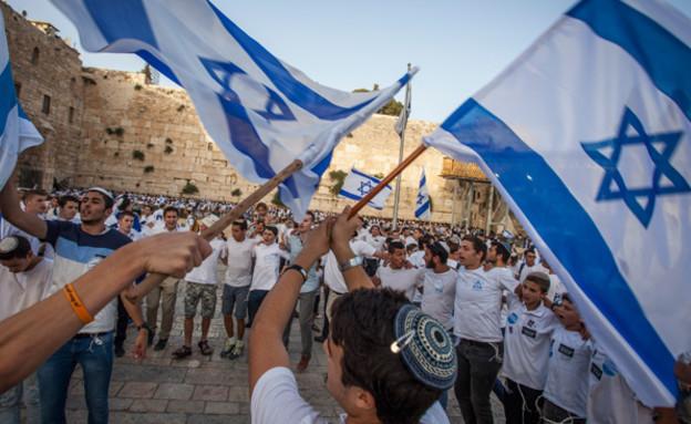 מצעד הדגלים בירושלים (צילום: Zack Wajsgras/Flash90, חדשות)