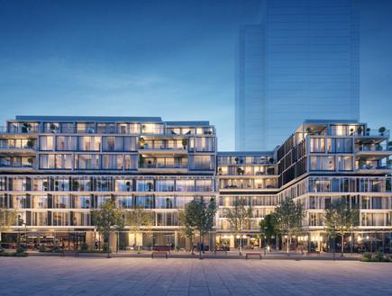 הדמיה של הפרויקט החדש ברחוב באזל (הדמיה: division3, יחסי ציבור)