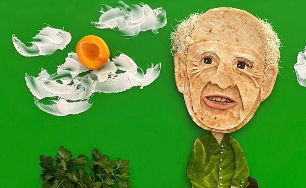 בהשראת דני קרוון, יצירה באוכל גילת אורקין (איור: גילת אורקין)