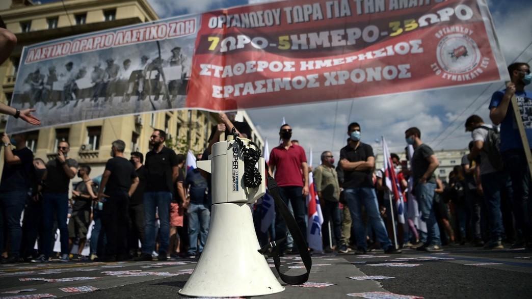 שביתה ביוון (צילום: ARIS MESSINIS, getty images)