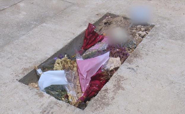קברו של קצין המודיעין שמת בכלא הצבאי (צילום: החדשות 12, חוסין אל אוברה)