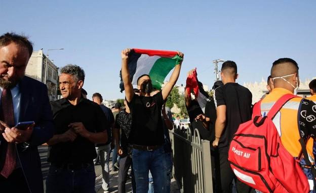 הפגנות בשער שכם (צילום: שלו שלום, TPS)