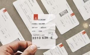 כרטיס טיסה (צילום: Amir Hanna UNSPLASH)