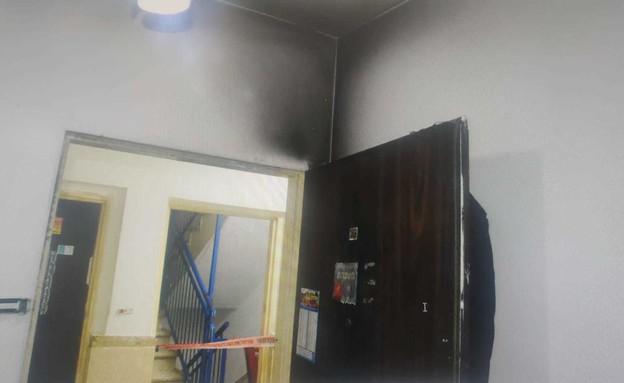 שריפת בית בקרית מלאכי (צילום: פרטי)