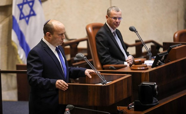 הנאום של בנט בהשבעת הממשלה (צילום: נועם מושקוביץ, כנסת ישראל)