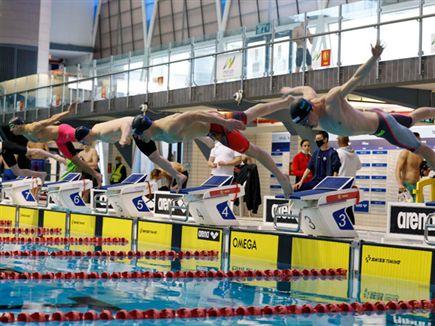 (גיא יחיאלי, איגוד השחייה) (צילום: ספורט 5)