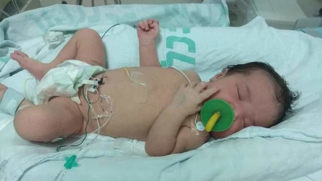 הלידה של רחלי חדד (צילום: באדיבות המשפחה)