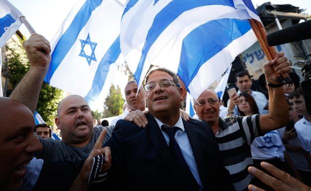 """ח""""כ איתמר בן גביר במצעד הדגלים בירושלים (צילום: יונתן זינדל, פלאש 90)"""