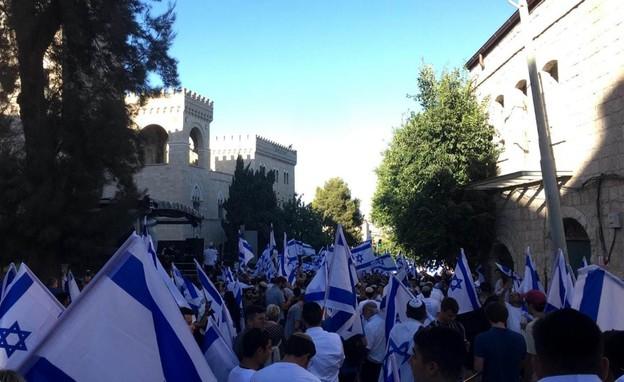 צעדת הדגלים בירושלים (צילום: מעיין ברבי, TPS)