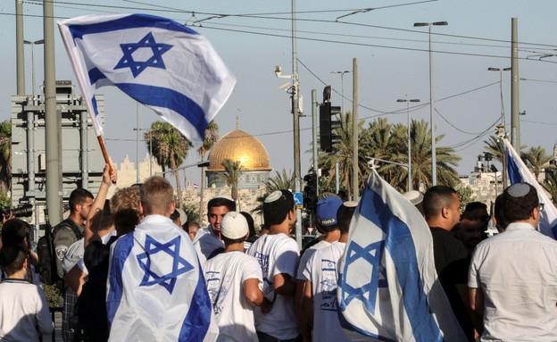 צעדת הדגלים בירושלים (צילום: רויטרס)