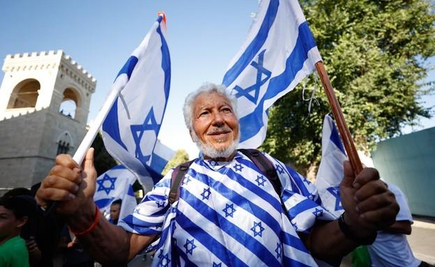 מצעד הדגלים בירושלים (צילום: יונתן זינדל, פלאש 90)