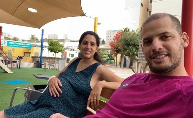 קארין ללוש ובעלה (צילום: באדיבות המשפחה)