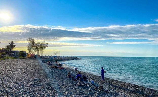 חוף הים של באטומי (צילום: ליאת כהן רביב)