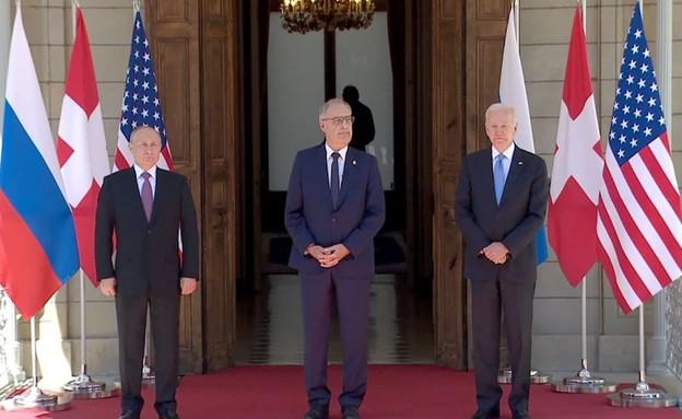 """נשיא ארה""""ב ג'ו ביידן ונשיא רוסיה פוטין (צילום: CNN)"""