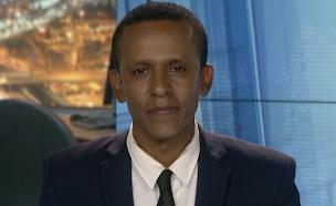 """ברהנו טגניה בשיחה על מחאת יוצאי אתיופיה (צילום: מתוך """"חדשות הבוקר"""" , קשת 12)"""
