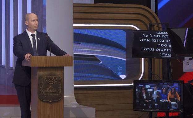 ארץ נהדרת: ערן זרחוביץ' מחקה את נפתלי בנט (צילום: חדשות 12)
