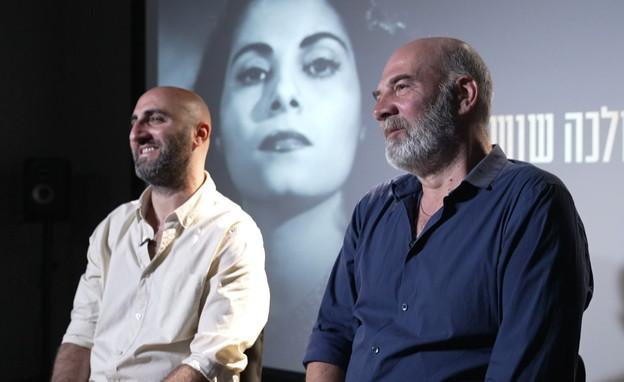 יוצרי הסרט המלכה שושנה, מוריס בן-מיור וקובי פרג' (צילום: חדשות 12)