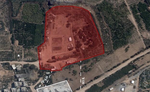 """מתחם צבאי של ארגון הטרור חמאס (צילום: דובר צה""""ל)"""