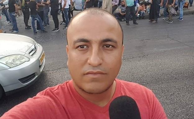 כתב Ynet חסן שעלאן שביתו הותקף (צילום: צילום מסך)