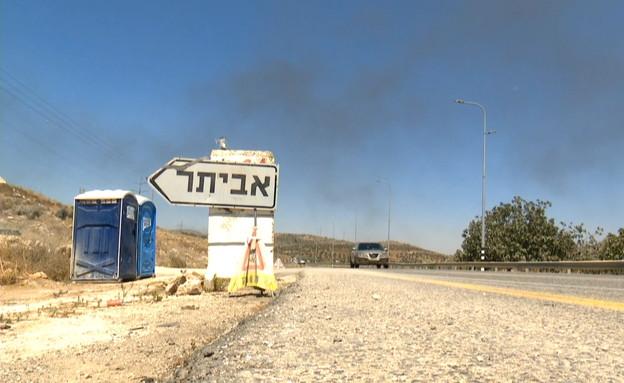 מאחז אביתר (צילום: החדשות 12, חוסין אל אוברה)