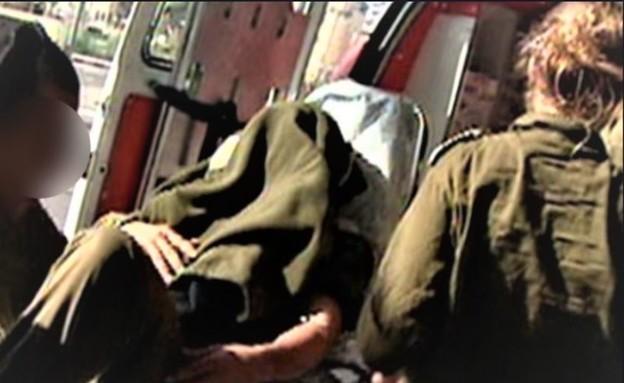 חייל פצוע מפונה  (צילום: ארכיון חדשות ערוץ 2)