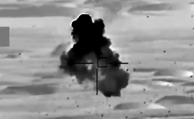"""תיעוד השמדת מל""""טים שפרסמה סעודיה (צילום: SPAregions, Twitter)"""