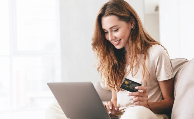 רכישה ברשת עם כרטיס אשראי (צילום: shutterstock)