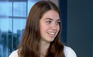 """הכירו את התלמידה הטובה ביותר בישראל (צילום: מתוך """"חדשות הבוקר"""" , קשת 12)"""