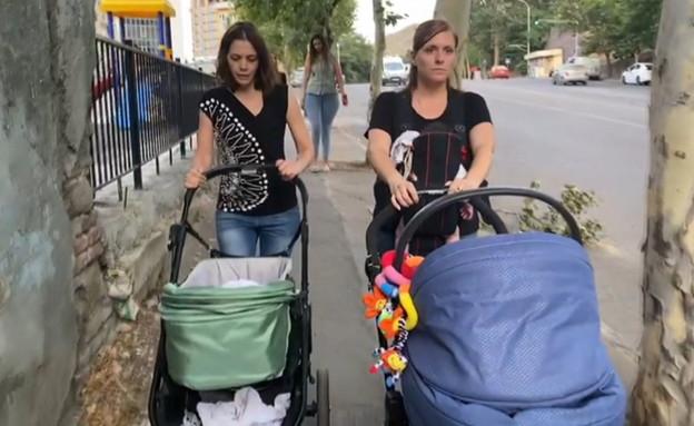 תקועים בגאורגיה  (צילום: החדשות 12, החדשות12)
