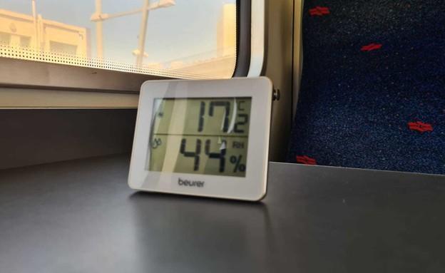 בדיקת מזגן ברכבת 3 (צילום: כרמל ליבמן, N12)