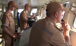 חמקן בריטי מתקרב לאימון רוסי (צילום: mil.ru, youtube)