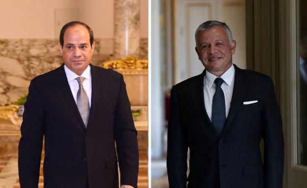 מלך ירדן עבדאללה ונשיא מצרים א סיסי חצי-חצי (צילום: רויטרס)