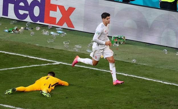 אלבארו מוראטה נבחרת ספרד (צילום: רויטרס)